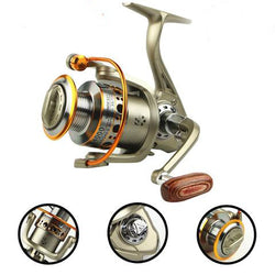 Yumoshi 2000-7000 12BB 5.5:1 Feeder Fishing Reel Metal Spinning Reels Carp  Fishing Reels Carretilha de pesca Moulinet