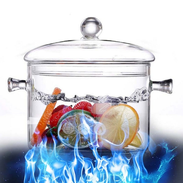 Creative Soup Pot Transparent Glass Cooker Salad Instant Noodle Bowl Handmade Cooking Tools Kitchen Supplies