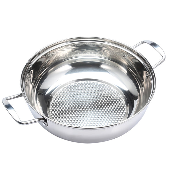 Stainless Steel Fondue Soup Pot Cookware with Glass Lid Use for Gas and Induction Cooker for All Cooking