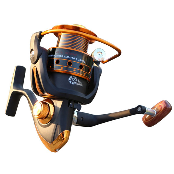 Yumoshi Fishing Reels Jigging Full Metal Spinning Reels EF1000-7000 12BB 5.2: 1 Fishing Reels Spinning Fishing Tools Accessories