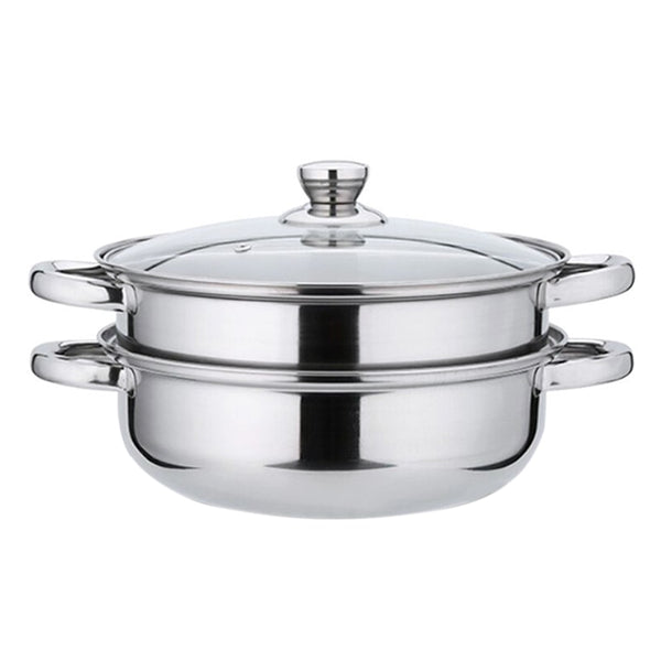 Stainless Steel Pot Glass Cover Double Steamer Stock Cooking Pot Inox Stock Pot Stainless Steel Cookware