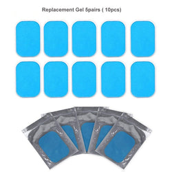 5 Pair(10pc) Replacement Gel Pads For EMS Trainer Weight Loss Abdominal Muscle Stimulator Exerciser Replacement Massage Gel