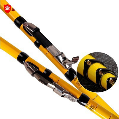 YUYU Carbon 4.5m 5.4m 6.3m 7.2m Telescopic Spinning Fishing Rod lure weight 3-50g Front-end Fishing Rod 3 position Drag 5.5kg