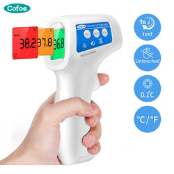 Cofoe Infrared Forehead Digital Thermometer Portable Non-contact Termometro Gun Baby/Adult Body Temperature Measurement Device