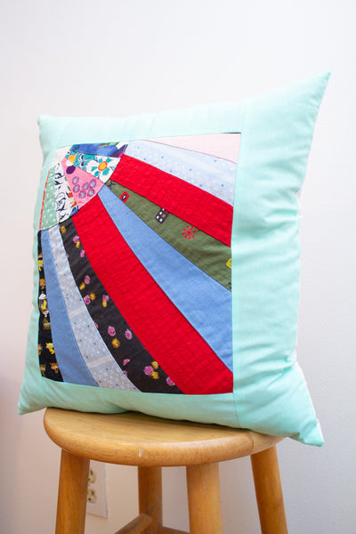 vintage patchwork pillow no. 2