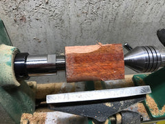 Mount on lathe