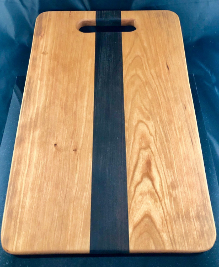 Cutting Board with handle in Cherry and Walnut - A Good Turn Colorado