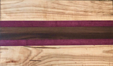 Large Cutting Board made with ambrosia maple, purpleheart and walnut wood - A Good Turn Colorado