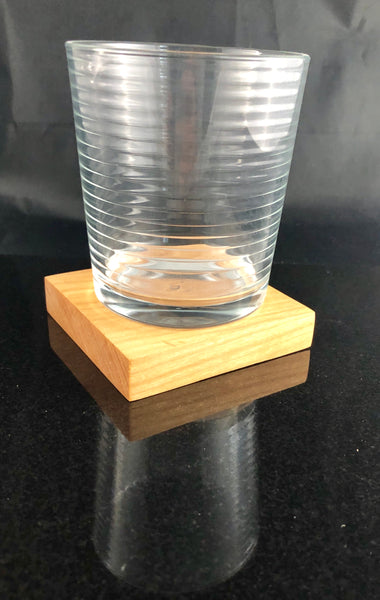 example of glass on wood coaster