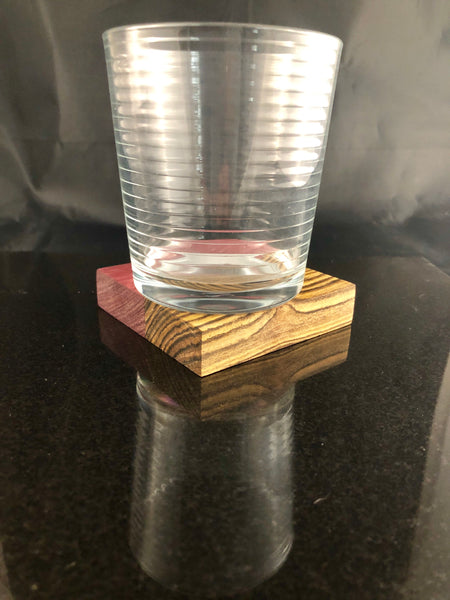 Example of glass on handmade coaster