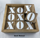Dark Walnut jumbo tic tac toe