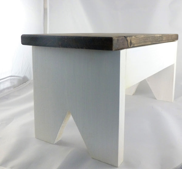 Side view farmhouse step stool