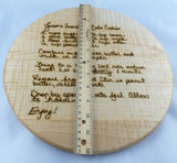 Engraved Recipe Board