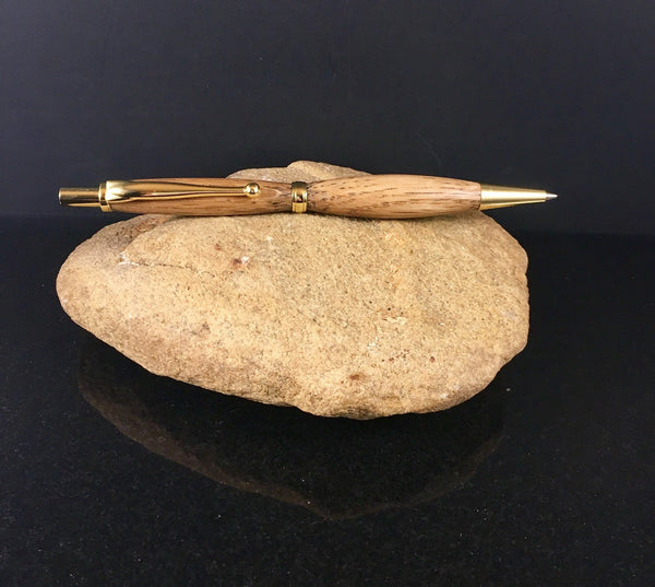 Pen and Pencil Set with Jack Daniels Wood and Gold Hardware - A Good Turn Colorado