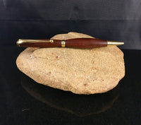 Walnut Wood Pen with Gold Accents - A Good Turn Colorado
