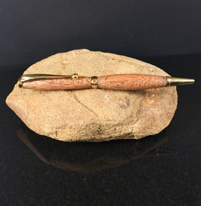 Pen made with Sapele (Mahogany) Wood and Gold Finish