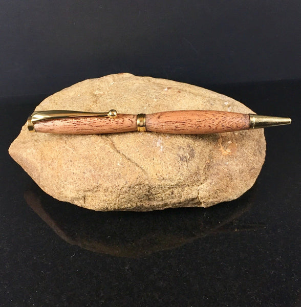 Sapele (Mahogany) Wood and Gold Pen - A Good Turn Colorado