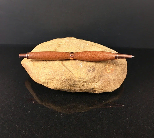 Sapele (Mahogany) Wood Pen and Pencil Set with Copper Finish