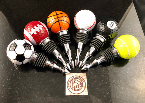 specialty sport golf ball bottle stoppers