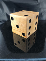 Solid Wood Cedar Jumbo Dice, Handmade, Hand painted - A Good Turn Colorado