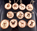 Custom Wood Slice Dog Ornaments - A Good Turn Colorado
