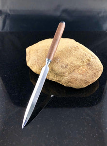 Letter Opener Made with Walnut Wood and Chrome Hardware