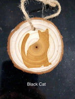 Custom Wood Slice Cat Ornaments - A Good Turn Colorado