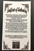 jack daniels wood certificate of authenticity