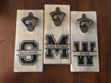 Personalized Split Letter Magnetic Bottle Opener (2 Styles) - A Good Turn Colorado