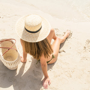 CLARA BOATER STRAW HAT