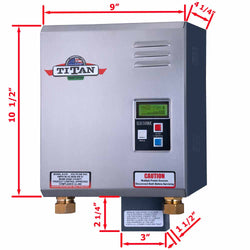 Titan N210 tankless water heater dimensions in inches