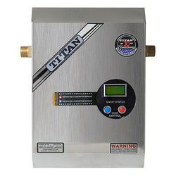 Titan N120-S electronic tankless water heater with stainless steel cover