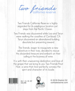 Two Friends - Wine label and story