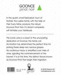 The Goonce - Wine label and story