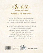 Load image into Gallery viewer, The Isabella - Wine label and story -label art back- Cork Tales