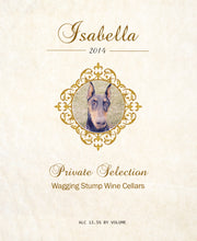 Load image into Gallery viewer, The Isabella - Wine label and story-label art front - Cork Tales