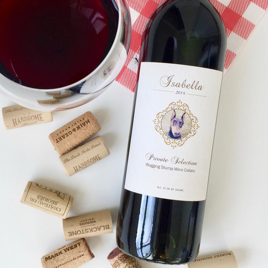 The Isabella - Wine label and story - Cork Tales