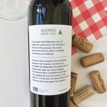 Load image into Gallery viewer, The Goonce - Wine label and story back label - Cork Tales