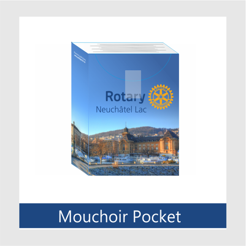 Pack de 10 Paquets de 10 mouchoirs avec impression Rotary International