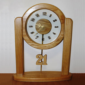 21st Wooden Clock