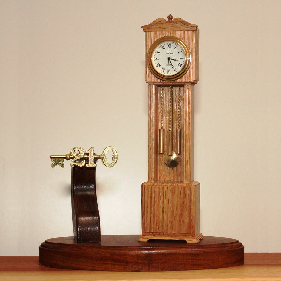 21st Key with Miniature Grandfather Clock