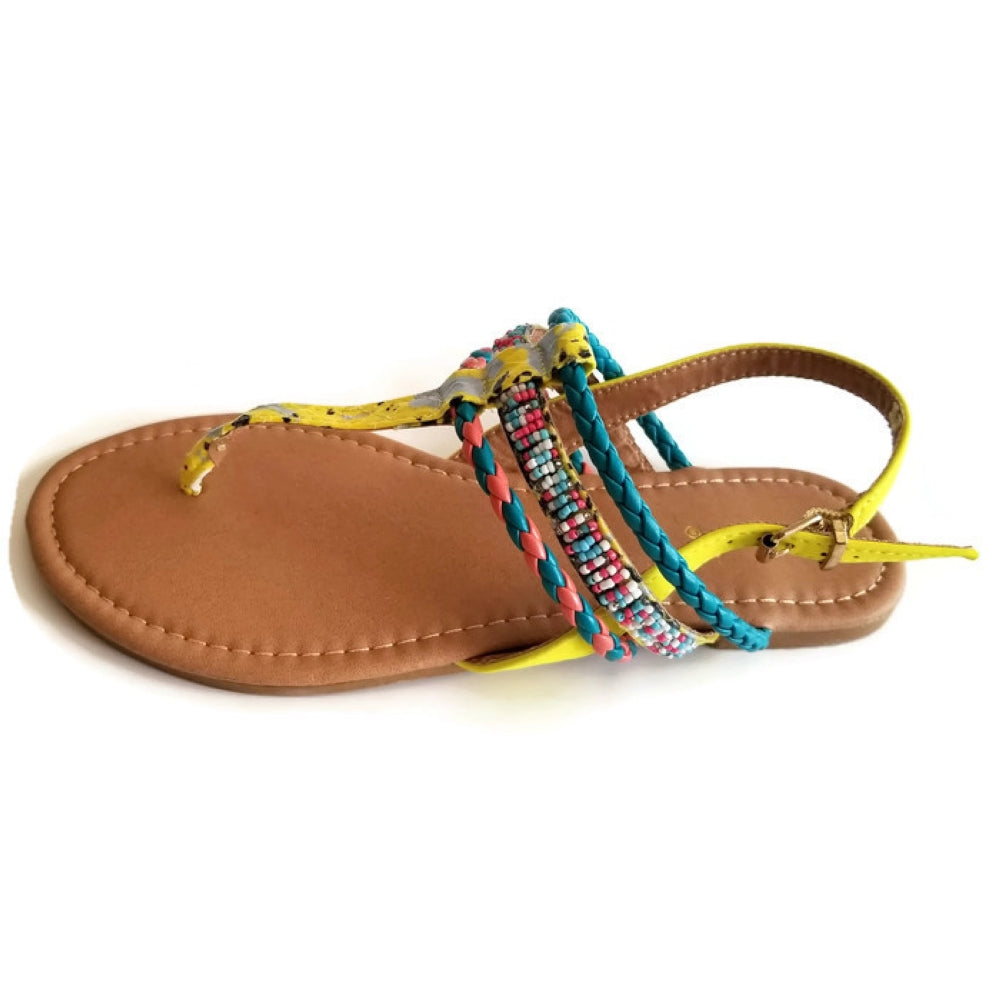 Archer 187 Multi-Colored Flat Sandals