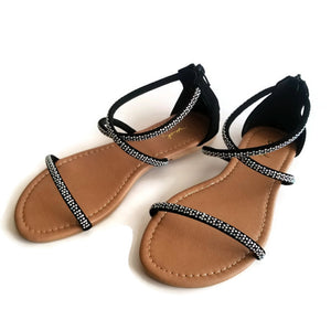 Archer 162 Fashion Flat Sandals Black
