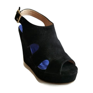Marki 2 Black High Wedge Sandals