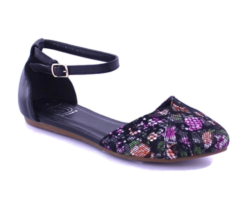 City 21 Floral Printed Flat Shoes