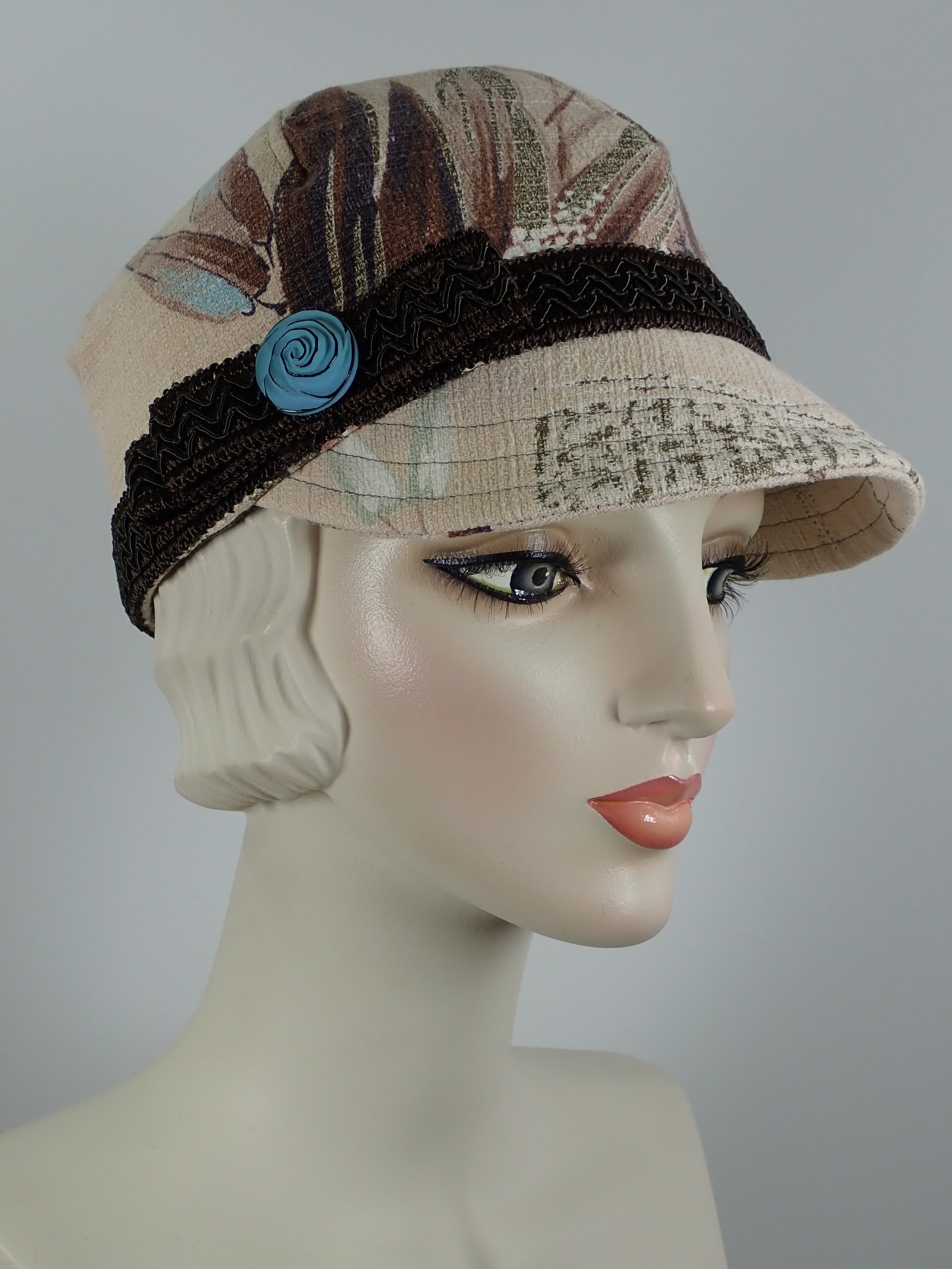Vintage fabric baseball cap for women sustainable