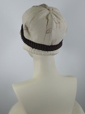 Women's Summer Tan, Brown and Rust Baseball Hat Style Newsboy Cap