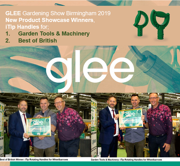 iTip won! Best Garden Tools & Machinery. GLEE and the Gardening Industry accolade for iTip Handles
