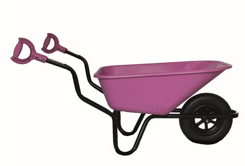 Bronco wheelbarrow sideways with itip rotating handles