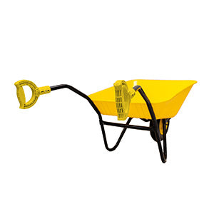 Coloured plastic wheelbarrow with matching coloured iTip Handles